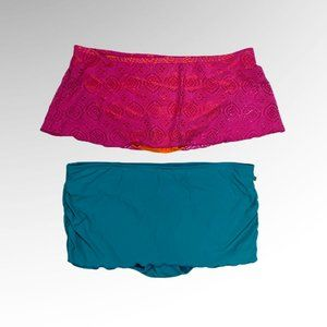 Set of 2 // La Vie En Rose Bikini Bottoms / XLARGE